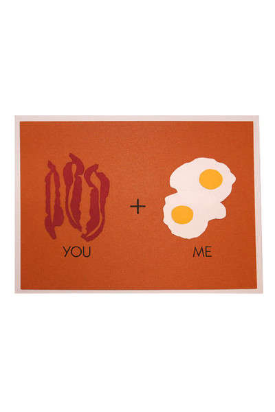 Romantic Greeting Cards - These Cards Feature Food Marriages That Will Last a Lifetime