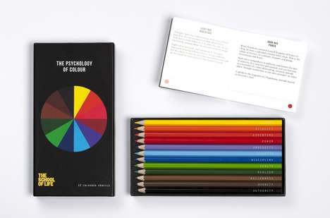 Emotional Colored Pencils - The Psychology of Color Pencil Set Uses Psychological Descriptions