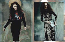 Witchy Bohemian Editorials - Glassbook Magazine's The Elder Story is Eclectically Styled