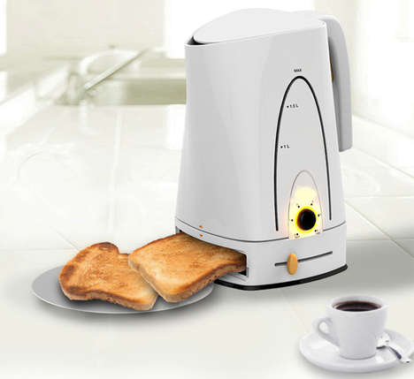 Multitasking Kettle Toasters - The Baking Pot Functions as Both a Coffee Pot and a Toaster