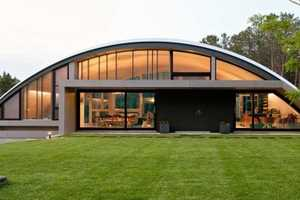 The Arc House is Modeled After an Airplane Hangar