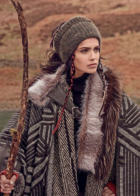 Nomadic Autumn Editorials - Vogue Russia's Gypsies Go to Heaven Story Boasts Layered Fall Fashions