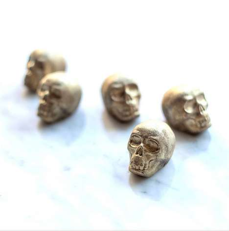 High-End Skull Chocolates - New York's FIKA Provides Luxe Candy Options for Halloween