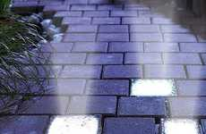 Solar Stone Lighting - The Signstek Light-Up Glass Brick is Perfect for Paving Outdoor Pathways