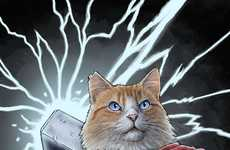Feline Superhero Illustrations