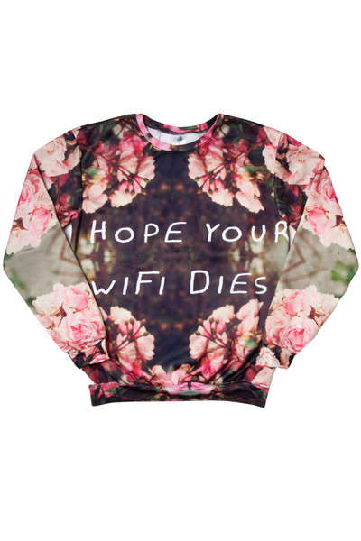 Fatalistic WiFi Sweaters - This Sugarpills Sweater Hopes for the Death of an Old Friend
