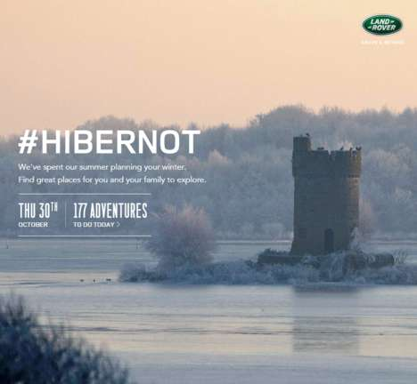 Winter Exploration Campaigns - This Land Rover Ad Campaign Encourages Winter Adventures