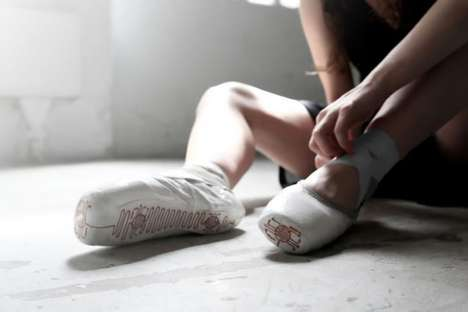 Movement-Memorizing Ballet Shoes - The E-Traces Pointe Shoes are Fitted with Arduino Technology