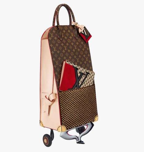 Opulent Grocery Bags - The Christian Louboutin for Louis Vuitton Shopping Trolley is $23,300