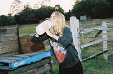 Hipster Farmgirl Editorials - This Three of Something Editorial Features Edgy and Feminine Fashion
