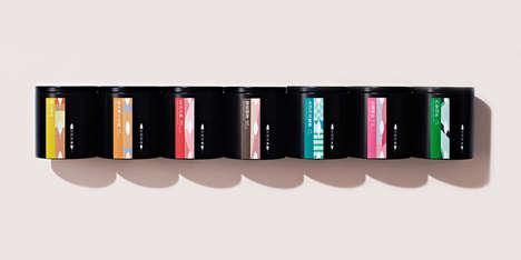 Contemporary Tea Branding - Konrad Sybilski's Any Tea Packaging is Matte Black and Vibrantly Hued