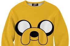 Cartoon Canine Sweaters - This Jake the Dog Sweater Features a Cartoon Favorite