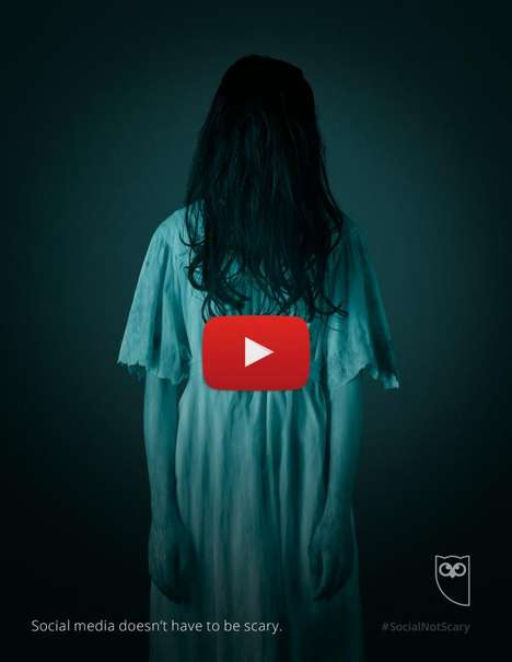 Scary Social Media Ads - Hootsuite's Social Media Ad Series Takes the Fear Out of Sharing