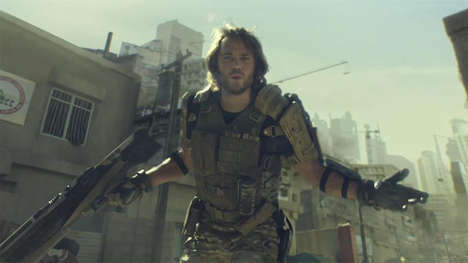 Celeb-Starring Gamer Ads - This New Advanced Warfare Call of Duty Trailer Features Taylor Kitsch