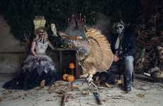 Terrifying Wedding Photography - This Halloween Wedding Photography Series Celebrates a Gothic Fall