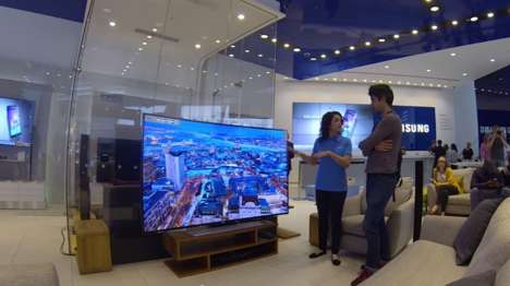 Scary Shopping Pranks - Samsung's Halloween Prank Video Catches TV Shoppers Off Guard