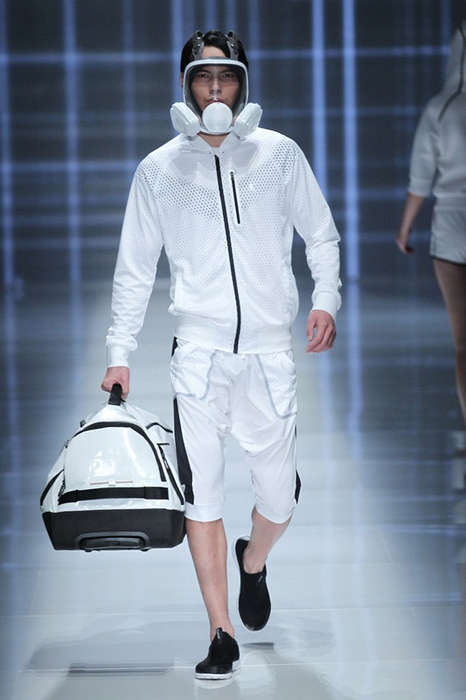 Haute Hazmat Suit Fashion - The Latest QIAODAN Menswear Collection is Disease-Proof