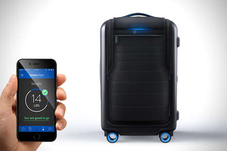Smart Suitcases - The Bluesmart Carry-On Suitcase is the World's First Connected Travel Piece