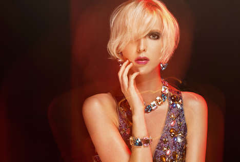 Bejeweled Beauty Editorials - Beauty Scene's Mila Exclusive is Heavily Accessorized and Opulent