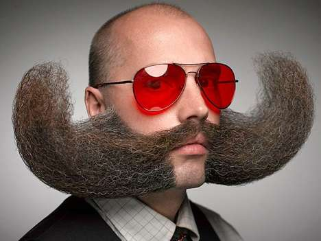 Movember Mustache Competitions - The World Beard and Mustache Championships Feature Interesting 'Dos