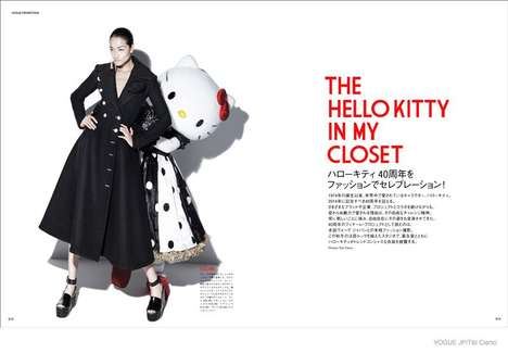 Pop Culture Fashion Photoshoots - Ai Tominaga Stars Alongside Hello Kitty in Vogue Japan