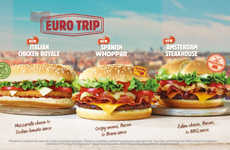 Travel-Inspired Burgers - Burger King UK'S Euro Trip Burger Menu Celebrates a World of Flavor