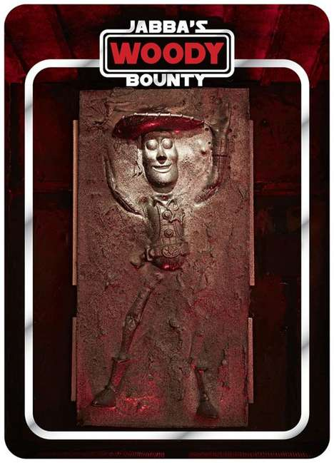 Pop Culture Carbonite Sculptures - Jabba's Bounty Imagines Batman and Homer in Han Solo's Shoes