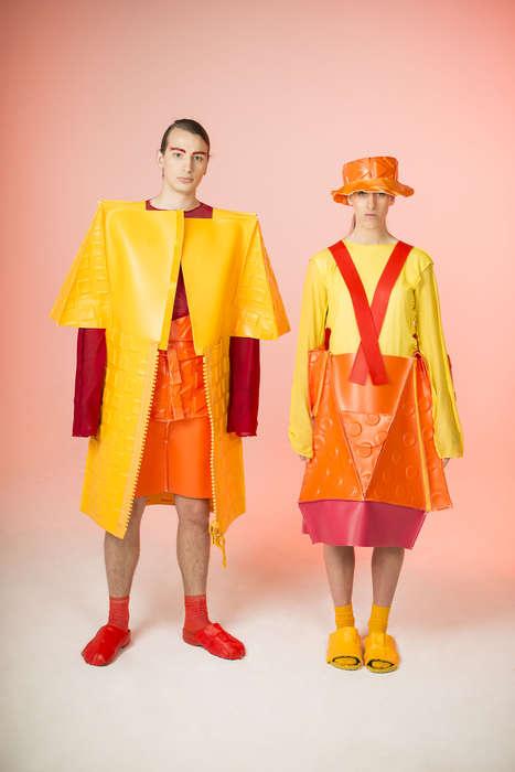 Avant-Garde Collapsible Apparel - Yanna Petter's Unconventional Fashions Boast a Vivid Palette