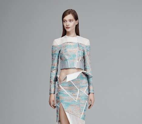 Origami Bodycon Fashion - The Mikhael Kale Spring Collection is Full of Sculptural Silhouettes