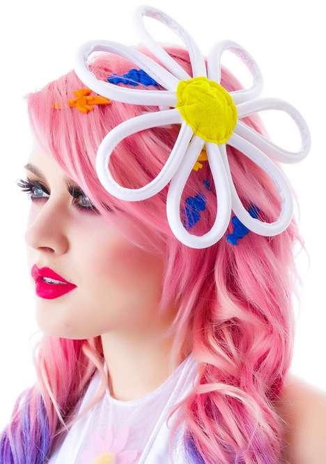 Exaggerated Floral Accessories - This Daisy Hair Clip from Dolls Kill is Perfect for Daring Ravers