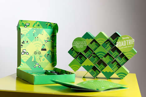 Road Trip Music Kits - This Music Packaging for Spotify Blends Web with Road Trips
