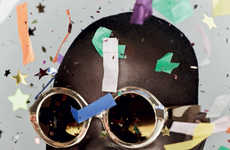 Confetti-Clad Eyewear Ads - The Karen Walker Celebrate Campaign Honors 10 Years