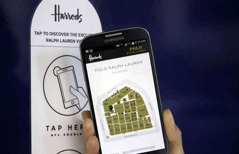 Interactive Retail Maps - Ralph Lauren's Window Display is an Interactive Shopping Experience