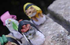 Feline Seafood Figurines - These Japanese Cat Toys Feature Adorable Sushi Designs