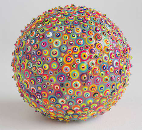 Techicolored Eye Sculptures - Graciela Socorro's Ocular Art Works are Displayed in a Vivid Palette