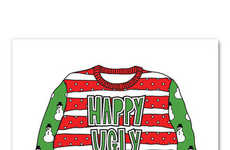 Ugly Sweater Cards - This Amusing Christmas Card Features Your Ugliest Sweater