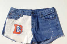 Sport Shorts are Customizable to the Female NHL or NFL Fan