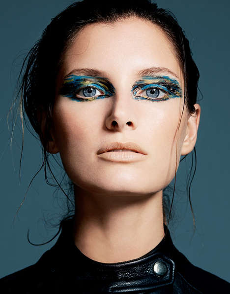 Smeared Eyeshadow Portraits - Ava Smith Fronts this Alluring Yu Tsai Editorial Series