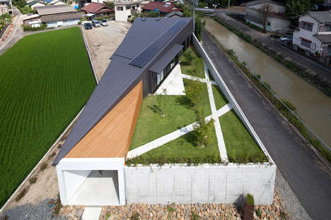 Concealed Garden Abodes - This Modern Japanese Home Boasts a Hidden Rooftop Garden