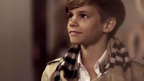 Dancing Celebspawn Ads - This New Holiday-Themed Burberry Commercial Features Romeo Beckham