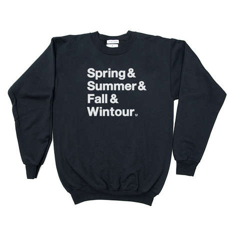 Seasonal Couture Sweaters - The Wintour is Coming Sweater Warns of an Impending Cold Front