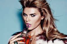 Glamorous Beauty Editorials - Maryana Linchuk Stars in Allure Russia's November Issue