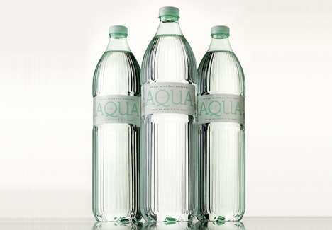 Faux Glass Bottles - The Design of This Mineral Water Bottle Mimics a Nostalgic Glass Shape