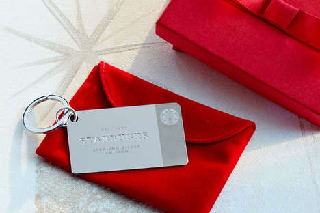 Silver Coffee Cards - This Opulent $200 Starbucks Gift Card is Made from Sterling Silver