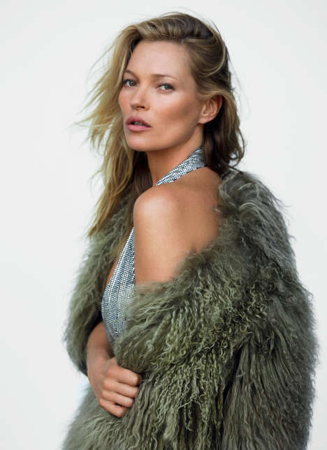 Style Icon Editorials - Kate Moss Covers Vogue UK's December Issue