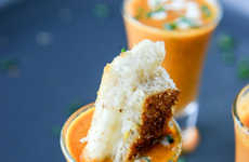 Seasonal Soup Shooters - This Creamy Tomato Soup Shooter Recipe Comes with Grilled Cheese Sticks