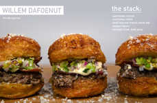 Celeb-Inspired Gourmet Burgers - This Culture-Fusing Cronut Burger is Inspired by Actor Willem Dafoe