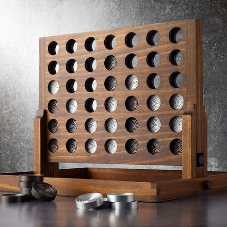 Sophisticated Kids Toys - The Wood and Aluminum Connect Four Game is a Work of Art