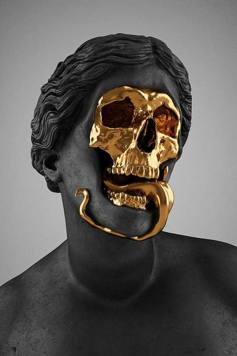 Macabre Gold Sculptures - Hedi Xandt Creates Stylish and Modern Works of Art