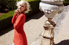 Glamorous Red Fashion - Model Anna Emilia Seewald is a Scarlet Lady in Grazia Germany